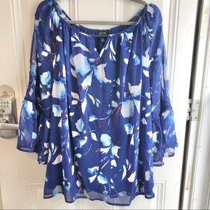 ALYX woman blue floral women's top. Size 2x